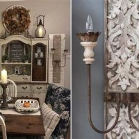 Decor Steals Distressed Wood Chandelier