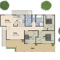 Simple 3 Bedroom Floor Plan With Dimensions